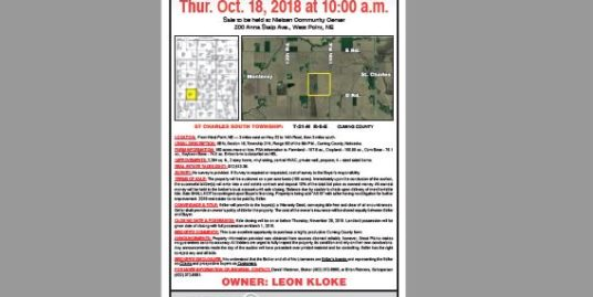 160 Acre Farmland Auction